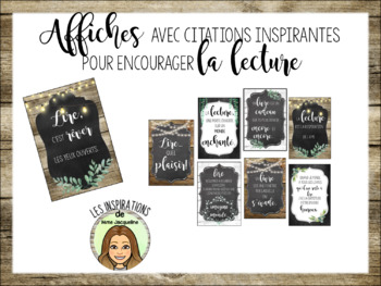 8 petites affiches, lecture, FRENCH reading posters