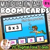 8's Multiplication Facts BOOM Cards | Digital Task Cards