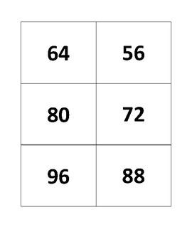 8's Multiplication Flashcards