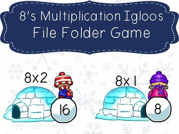 8's Multiplication Igloos File Folder Game
