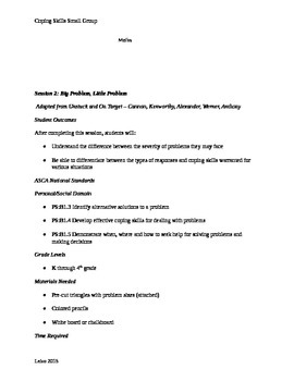 8 session small Coping Skills group
