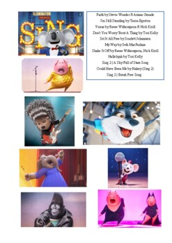 "8 songs from the movie ""Sing""  (Listening)"