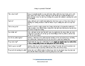 "8 things to say instead of ""Calm down"" adapted from TheAutismSite.com"