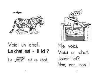 8-9) un chat, oui, non  - livret de lecture ENFANT C1 Mat. et 1ère