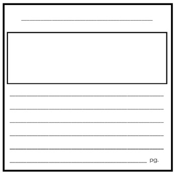 8 x 8 Blank Book Writing Paper