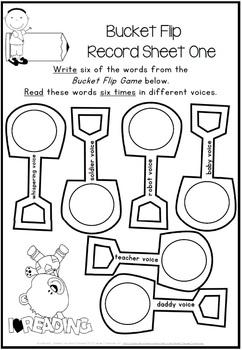 8 x Bottle Cap Literacy Center Games for any Word List {Mini Bundle 1}