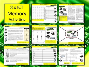 8 x Computer Memory Activities ICT Computing Keywords Wordsearch Science