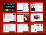 8 x Dystopian Literature Starter Activities Wordsearch Crossword English