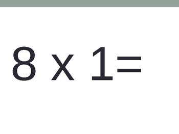 8 x Multiplication Flash Cards ppt