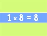 8 x Multiplication Tables Flashcards (IWB)