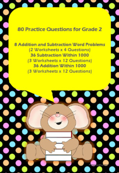 80 Addition & Subtraction Questions for Grade 2 Mathematics