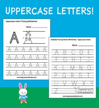 80 Alphabet Tracing Worksheets