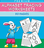 Alphabet Tracing Worksheets (80 Worksheets)