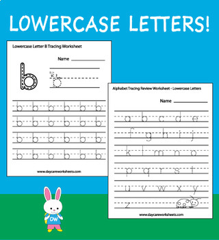 Alphabet Tracing Worksheets for Preschool (80 Worksheets)