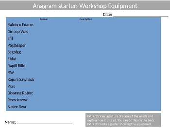 80 Anagram Sheets Design Technology Literacy Keyword  Anagrams Wood-Shop