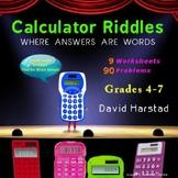 Fun Math Activities: 90 Calculator Riddles