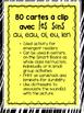 80 Cartes à clip avec les sons au, eau, oi, eu, ien (Clip-it Cards: Fr. Sounds)