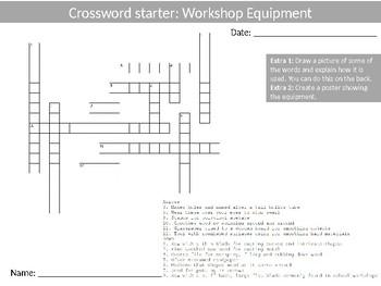 80 Crosswords Design Technology Literacy  Keyword Starters Settlers Wood-Shop