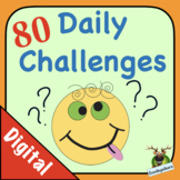 Morning Work - 80 Daily Challenges - Math & Literacy