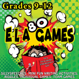 80 ELA Games for grades 9-12