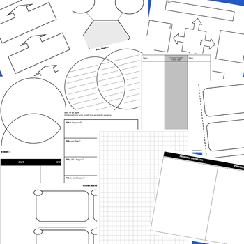 80 Graphic Organizers - All Subjects!