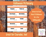 80 Halloween Cards for Pictionary, Charades or 20 Questions