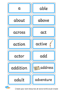 80+ Letter 'Aa' Cards! Great for a Word Wall, Flash Cards, Writing Cues