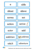 80+ Letter 'Aa' Cards! Great for a Word Wall, Flash Cards,