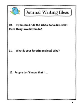 Paragraph  Writing: :NO PREP  Writing Prompts: Journal Writing