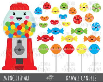 80% SALE CANDY clipart, bubble gum clipart, kawaii candies clipart