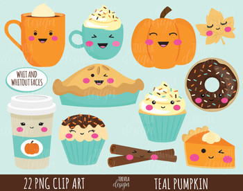 50% SALE FALL clipart, pumpkin clipart, autumn clipart, sweet treats clipart