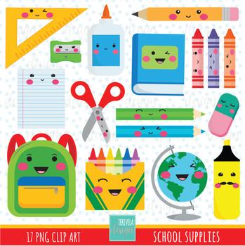80% SALE SCHOOL clipart, school supplies clipart