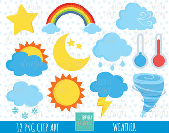 80% SALE WEATHER clipart, weather icons, wather graphics