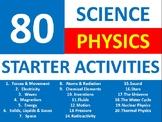 80 Science Physics Starter Activities Wordsearch Crossword Anagram Homework