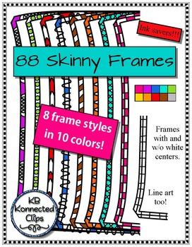 88 Skinny Frames - Ink savers!
