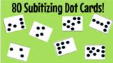 80 Subitizing Dot Cards!