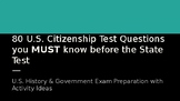 80 U.S. Citizenship Test Questions you MUST know before th