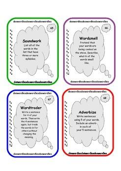 80 Vocabulary Task Cards - Complete Set