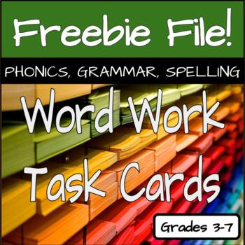80 Vocabulary Task Cards - Complete Set