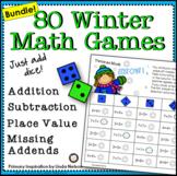 Winter Math Games First Grade Bundle