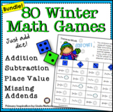 Winter Math Games First Grade Bundle