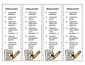 80 Writing Prompts with Writer's Checklist