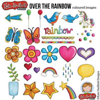 "80's Kitsch Retro Clip Art: ""Over the Rainbow"""