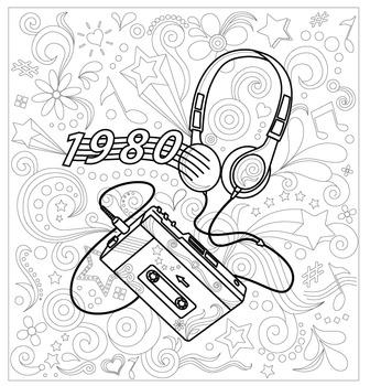 80's Theme Doodle Page