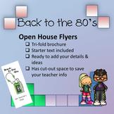 Vintage 80's theme - Open House Flyer / 3-fold Brochure