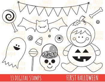80% sale HALLOWEEN stamp, digi stamp,  halloween digi stamp, ghost, bat