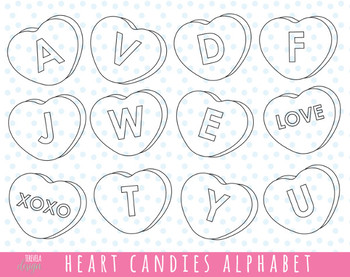 80% sale HEART LETTERS stamps, VALENTINE'S DAY, heart alphabet