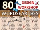 80 x Woodshop Wordsearch Puzzle Sheet Keywords Woodwork Ca
