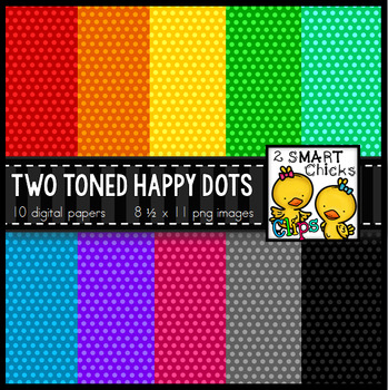 Background Paper  – Two Toned Happy Dots Bundle