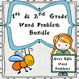 1st & 2nd Grade One & Two Step Word Problems-Bundle (840 Problems)